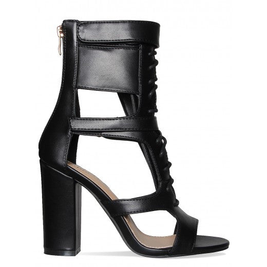 a460dfd86f3 Suede Chunky Heel T-Strap Gladiator Sandals – THULI NYC