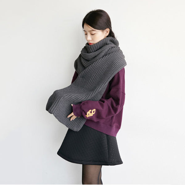 High Collar Wool Scarf