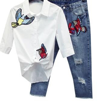Birdy Two Piece Jeans and Shirt