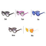 2 Tone Oversized Cat Eye Multicolor Mirrored Sunglasses