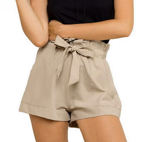 Safari Chic High Waisted Shorts