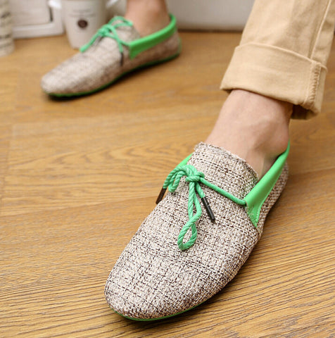 Linen breathable Lace Up Loafers