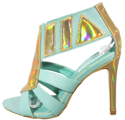 BLUE HOLOGRAPHIC HEEL