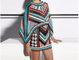 Zulu Maiden Beaded Runway Collection Mini Dress