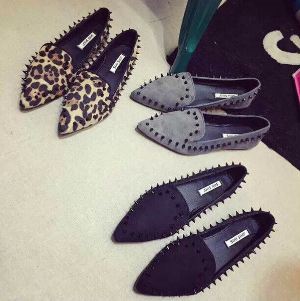 Studded Rivets Women Loafers