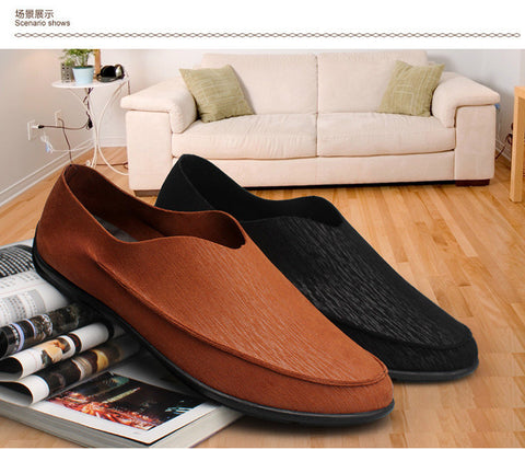 Microfiber Leather High Fashion Vintage Slip-on Loafers