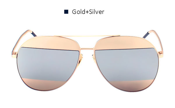 SPLIT Mirrored Aviator Sunglasses