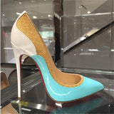 Patchwork Stiletto High Heel Pumps