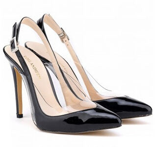 Patent Leather Slingback Candy Color High Heel Pumps