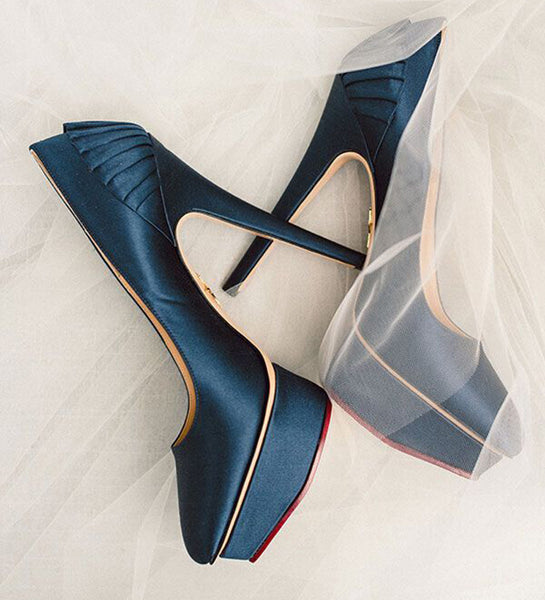 Satin Pointed High Heel Pumps