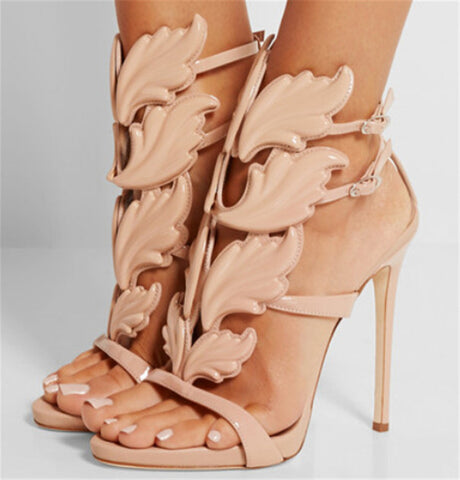 Baroque Leaf Sandals High Heels