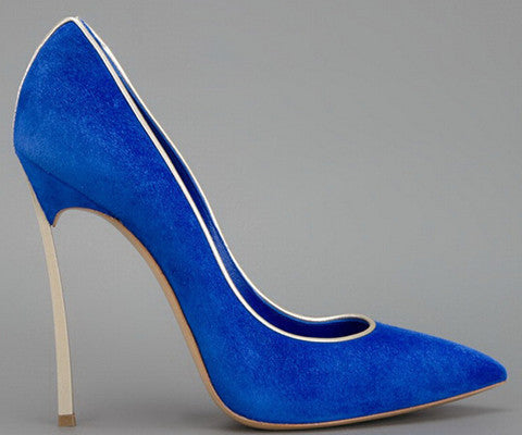 Sculpted Steel Metal Blade High Heel Pumps