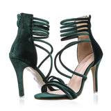 Velvet Ankle Wrap Gladiators
