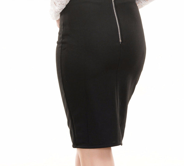 ef159930c1 Gold Chain Cut Out Side High Slit Pencil Slim Skirt – THULI NYC