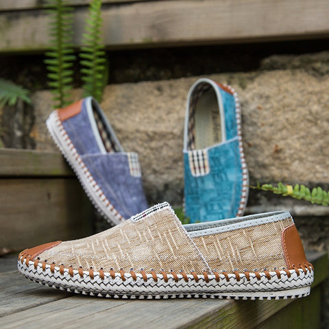 Handmade Flat Canvas Slip-on espadrilles