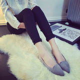 Chic Suede Pointed Toe Flats
