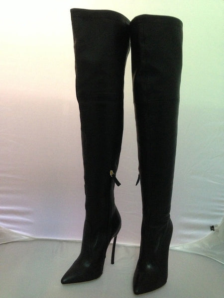 Thigh High Over The Knee Leather High Heel Boots