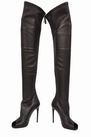 5ca3e2d697dec Pillage Peep Toe Thigh High Boots.  198.50 USD  150.50 USD