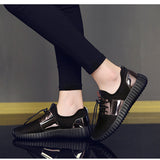Breathable Paillette Metallic Sneakers