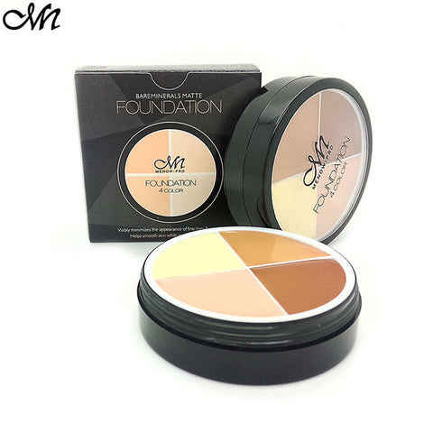 Waterproof 4 Colors Brand Contour Palette