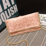 Leather Scrub Chain Diagonal Cross Body Bags Women Messenger Bag