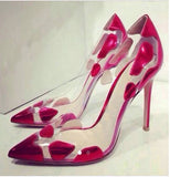 Patent Leather Transparent High Heel Pumps
