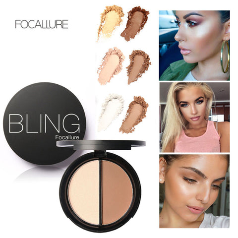 Powder Blush Bronzer & Highlighter