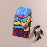 The Artist Collection Knee Length Rainbow Pencil Skirt