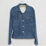 Crazy about Denim Print Long Denim Jacket
