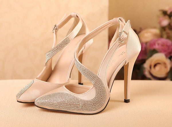 The Crystal Collection Slingback High Heels