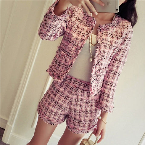 Tweed High Fashion Short and Blazer Suit