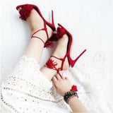 Lace-up Tassel Strappy High Heels