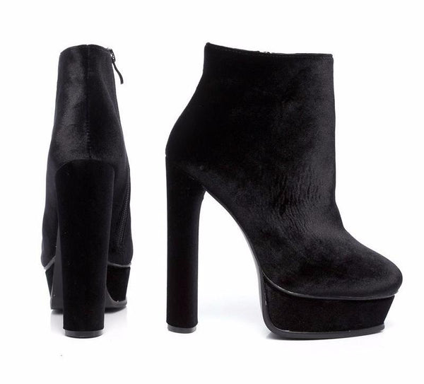 8d089521edf Velvet Platform Ultra High Ankle Boots – THULI NYC