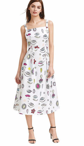 All Eyes Casual Loose Midi Summer Dress