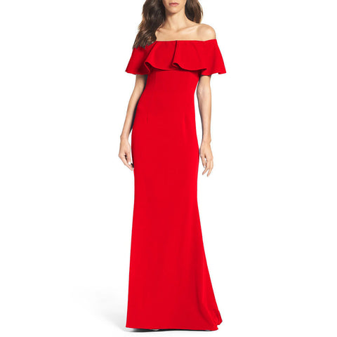 The Sizzler Off The Shoulder Fitted Maxi Dress