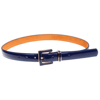 Pin Buckle Genuine Leather Slim Belt