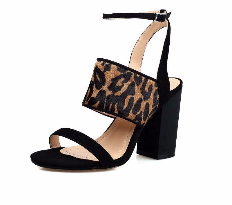 f2397dd4d55 Genuine Leather and Mohair Leopard Skin Block Heel Sandals – THULI NYC