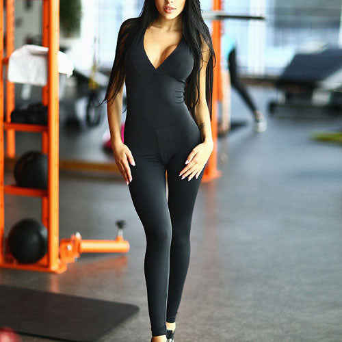 Shes The Boss One Piece Workout Jumpsuit Thuli Nyc