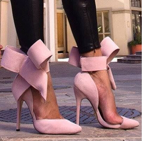 Bowtie Stiletto High Heels