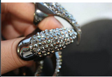 Gothic Punk Cool Rock Eagle Claw Crystal Rhinestones Finger Nail Hook Ring