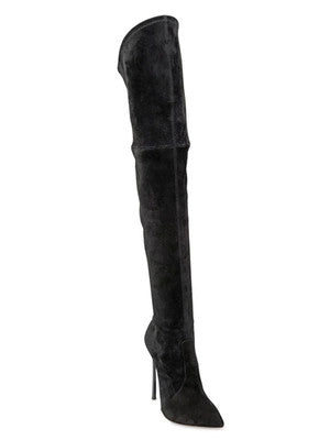 Over The Knee Pointed Toe Thigh High Stiletto Boots