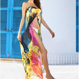 Chiffon Floral Cover Up