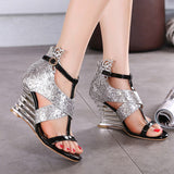 Unique Wedge High Heels Sandals
