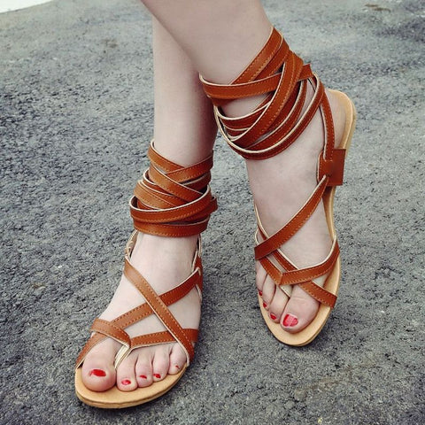 Convertible Gladiator Flat Sandals