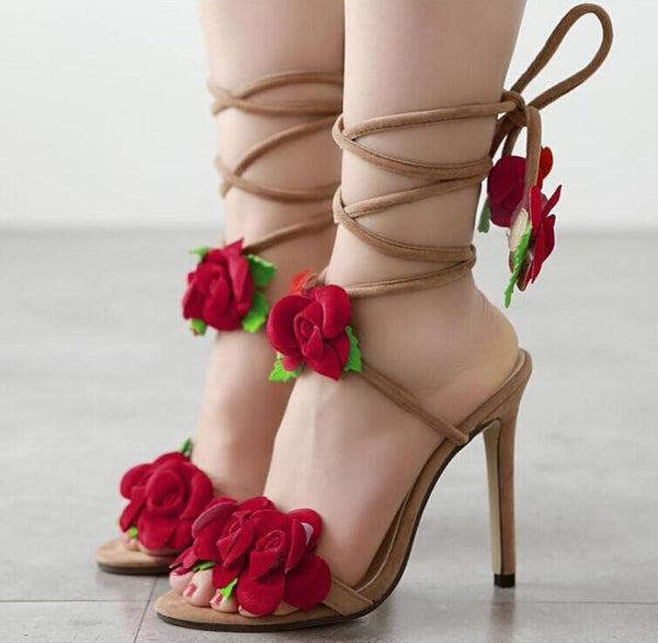 The Rose High Heels Sandals