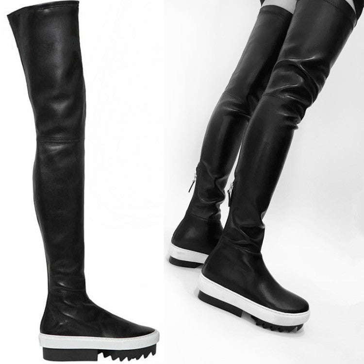 Knee Thigh High Sneaker Boots – THULI NYC