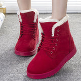 Plush Fur and Suede Winter Ankle Boots