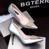 Elegant  Rhinestone Stiletto High Heel Pumps