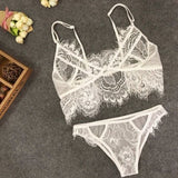 See Through Full Lace Bra and Briefs Set