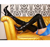 Wonderheel Genuine Leather Stiletto Thigh High Boots
